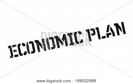 Economic Plan rubber stamp. Grunge design with dust scratches. Effects can be easily removed for a clean, crisp look. Color is easily changed.