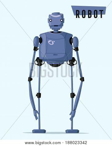 Robot character. Technology, future. Cartoon vector illustration. Vintage style Evolution of technologies