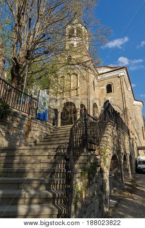 VELIKO TARNOVO, BULGARIA - 9 APRIL 2017:  St. Constantine and Helena Church in city of Veliko Tarnovo, Bulgaria