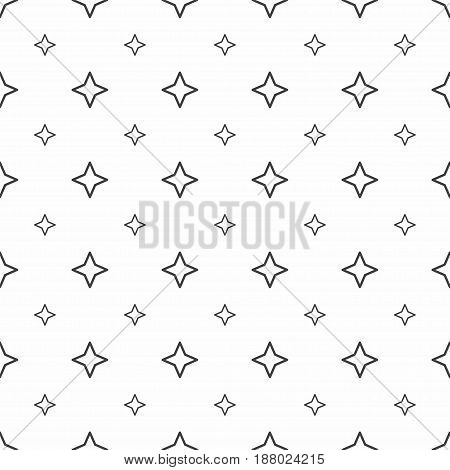 Abstract Seamless Pattern. Grey Stars, Modern Stylish Textures