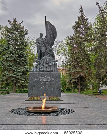 monument to the fighters of the revolution in Saratov