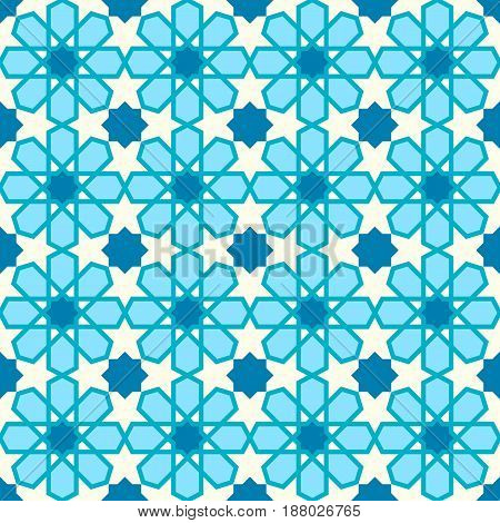 Seamless pattern with geometric arabic style. Traditional islamic background.