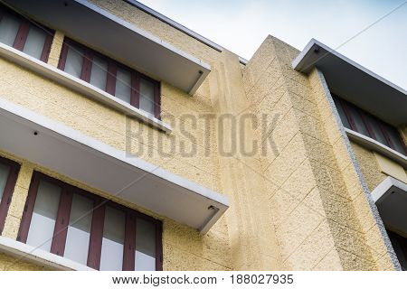 Vintage Styled Office Building Outside stock photo