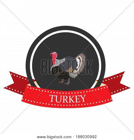 flat icon Turkey with the name in vector format