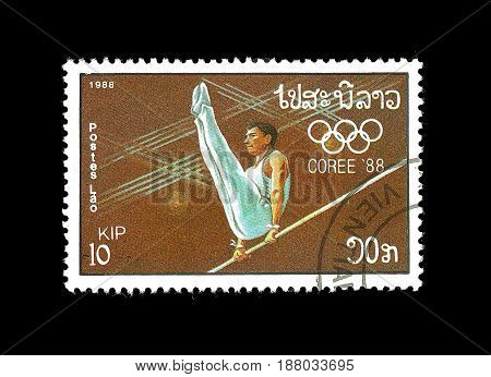 Postage Stamp : Laos 1988 Olympic Games - Seoul Korea