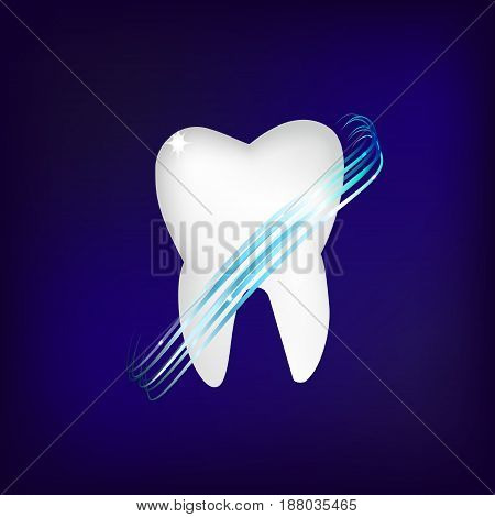 Dental care Tooth Icon vector Concept.tooths realistic