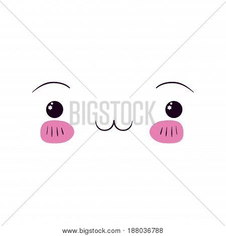 colorful facial expression exhausted kawaii vector illustration