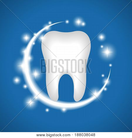Whitening of human tooth. Vector illustration. eps10