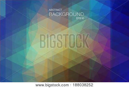 Yellow Blue bright color background with triangle shapes for web