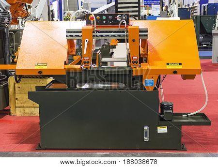 Metalworking equipmentsemi-auto bandsaw machine/ Intermarch 2017 Industrial Machinery Exhibition at Bitech Thailand - May 2017