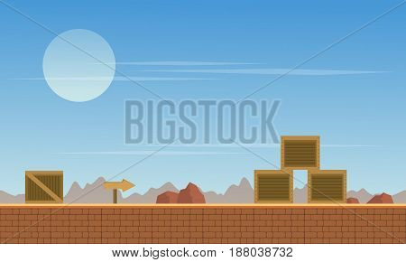 Collection stock background game with box vector art