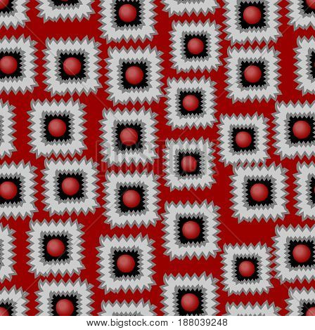 Vector background with gritty square patterns in red gray and black