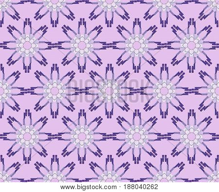 Classic purple seamless floral background with flower composed of fragments