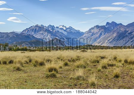 Meadow And Mountinas.patagonia, Argentina