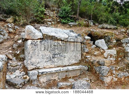 Ruins Of Ancient City Olympos In Lycia. Turkey