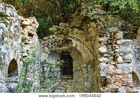 House Of Mosaics In North Necropolis. Ruins Of Ancient City Olympos In Lycia. Turkey