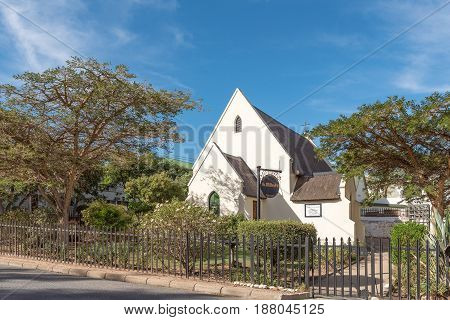 MONTAGU SOUTH AFRICA - MARCH 25 2017: The St. Mildreds Anglican Church in Montagu in the Western Cape Province
