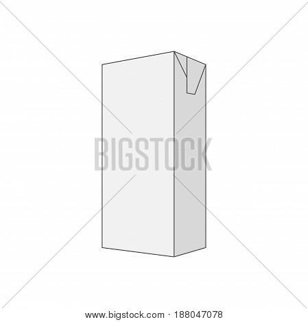 Empty gray Box vector Template in outline Style