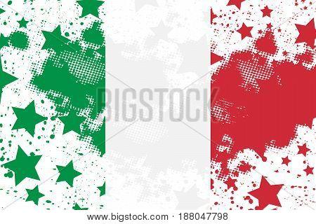 Vector Italian grunge flag. Using for decoration works.