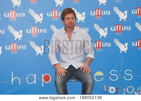 Giffoni Valle Piana Sa Italy - July 21 2012 : Claudio Gioe' at Giffoni Film Festival 2012 - on July 21 2012 in Giffoni Valle Piana Italy