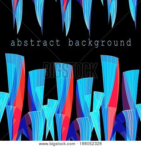 Abstract bright unusual fantasy background with different elements