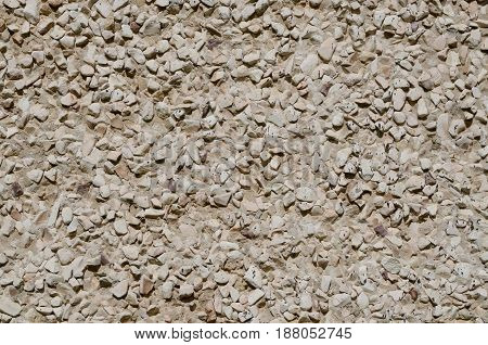 Gravel surface. White gravel texture. Abstract grunge stone background.