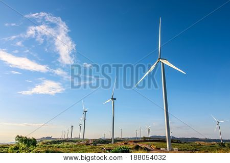 Windmill turbine for electric production at Khao Kor, Petchaboon, Thailand