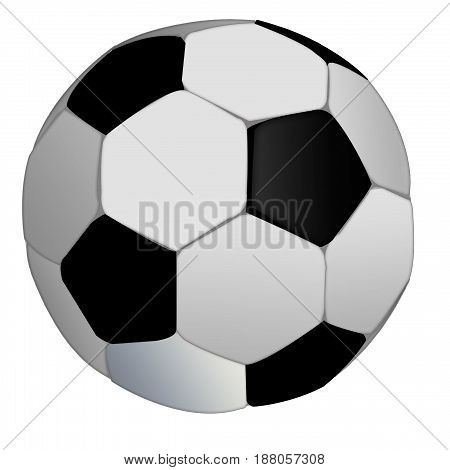 isolated soccer ball on white background. football ball
