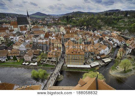 City of Cesky Krumlov in Czech Republic