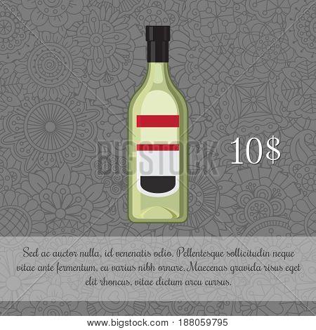 Green Liquor Alcoholic Beverage Card