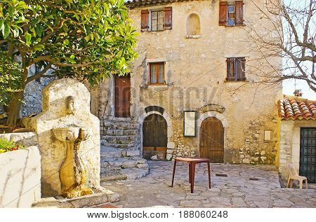 The Drinking Fountain In Eze