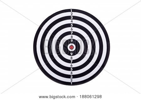 Dart board isolated on white background with clipping path