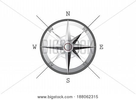 Vector illustration of compass rose. File is in eps10 format.