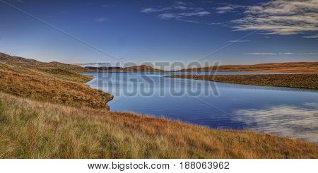 Loch Leathan, Isle of Skye, Highland, Scotland. Quiet october morning.