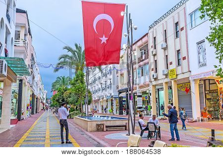 The Central Street Of Kemer