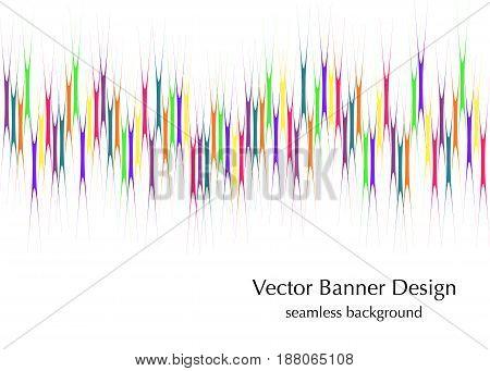 vertical rainbow lines banner seamless vector pattern design