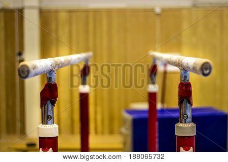 Gymnastics equipment in a gym in the Faroe Islands