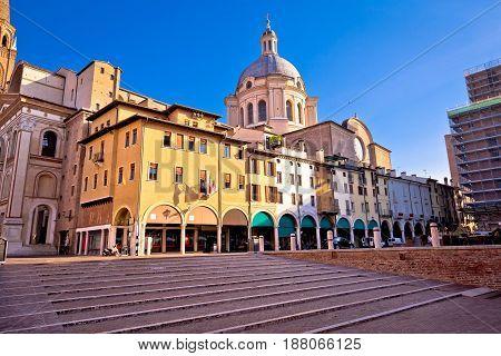 Mantova City Piazza Delle Erbe View