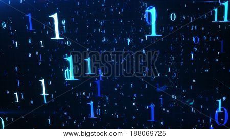 Digital Abstract Technology Background, Circuit Board Background. 3D Rendering