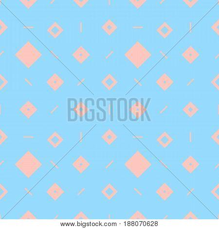 Simple seamless geometric pastel blue pattern of rhombuses