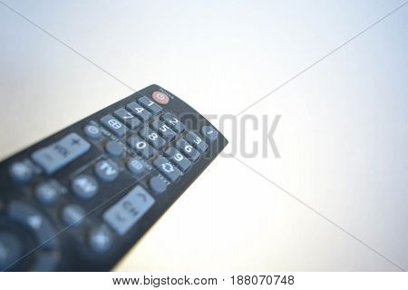 A remote control isolated on white background