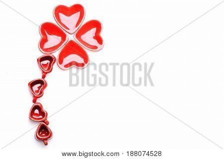 Heart Plates Shamrock