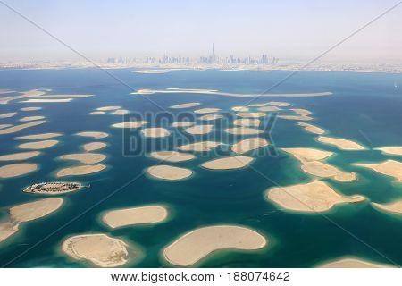 Dubai The World Islands Island Panorama Burj Khalifa Aerial View Photography