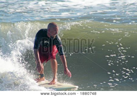 Surfer Going Left