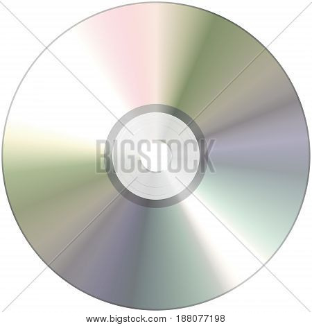 compact disk close up isolated on white background