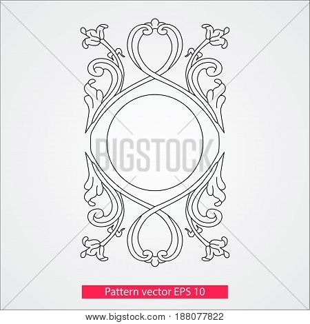 Ornament and decor, design elements. Decoration of the page. Vector illustration.