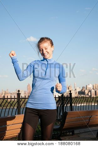 Sport And Fitness. Woman Running