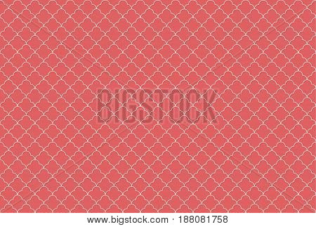 Quatrefoil waves seamless pattern. Geometric background. Vector