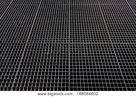 Metal mesh background. Metallic mesh with square holes