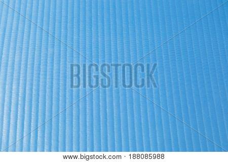 Texture Of A Rubber Blue Vertical Striped Shine Gym Mat